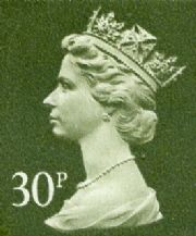 30p Cheap GB Postage Stamp